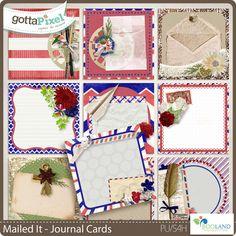 Mailed It – Journal Cards :: Gotta Pixel Digital Scrapbook Store by Booland Designs  $3.50