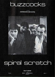 Buzzcocks, Spiral Scratch EP ad from the 1979 reissue (originally released in 1977)