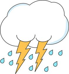 Lightning and Rain Cloud Clip Art - Lightning and Rain Cloud Image Writing Pictures, School Pictures, Kindergarten Art, Preschool Learning, Rain Clipart, English Games For Kids, Teacup Tattoo, Weather Words, Spring Bulletin Boards