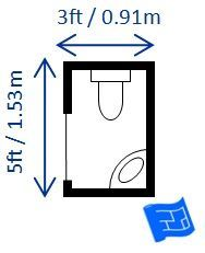 Half bathroom dimensions for my room with a pocket door