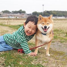 柴犬八朔と弟くん(しばいぬはっさく)さんはInstagramを利用しています:「今日はふたりで爆笑。 #糸目#兄弟 #犬のいる暮らし #犬とこども#こどもと犬 #犬と子供#子供と犬 #kids_japan#instagram_kids #コドモノ#ママリ #mamanokoカメラ部 #pecoいぬ部#いぬのきもち…」