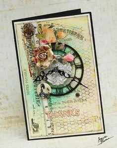 Ingvild Bolme's Gallery: Thanks card * Prima, Dusty Attic and Scrapbookshop.ru *