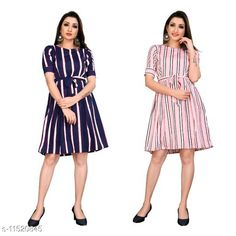 Checkout this latest Dresses Product Name: *Trendy Fancy One Piece Dress With Belt* Fabric: Poly Crepe Sleeve Length: Short Sleeves Pattern: Printed Multipack: 2 Sizes: XS, S, M, L, XL (Bust Size: 42 in, Length Size: 37 in)  Country of Origin: India Easy Returns Available In Case Of Any Issue   Catalog Rating: ★4 (258)  Catalog Name: Free Mask Stylish Feminine Women Dresses CatalogID_2167743 C79-SC1025 Code: 994-11520845-0441