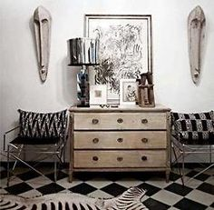 i am collecting inspiration (home)... Ethnic Home Decor, Malene Birger, Eclectic Decor, Eclectic Furniture, Dresser As Nightstand, Bedside, Elle Decor, Interiores Design, Decoration