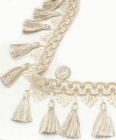605TF-A Tassel Fringe Ivory | Online Discount Drapery Fabrics and Upholstery Fabric Superstore!