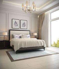 Master Bedroom Design Idea Picture Luxury 57 New Trend and Modern Bedroom Design Ideas for 2020 Part Luxury Bedroom Design, Master Bedroom Design, Home Bedroom, Bedroom Wall, Wainscoting Bedroom, Bedroom Ideas, Luxury Master Bedroom, Master Bedrooms, Bedroom Designs