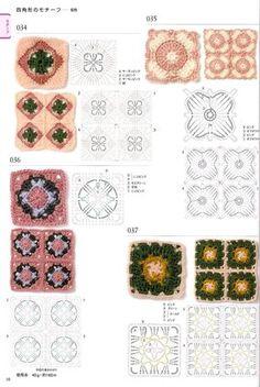 View album on Yandex. Crochet Edging Patterns, Crochet Diagram, Crochet Motif, Diy Crochet, Crochet Stitches, Flower Patterns, Crochet Edgings, Crochet Granny, Crochet Doilies