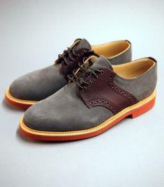 Fancy - Grey Suede & Lea Saddle Shoe by Mark McNairy