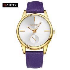 f5b16849d0b1 Gaiety Brand Fashion New Rose Gold Women Watches Luxury Dress Wrist Watch  Leather Ladies Quartz Watch Woman Girl Watch