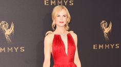 See what all of your favorite celebrities wore as they hit the red carpet at the 2017 Emmy Awards.