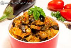 caponata-alla-siciliana Vegetarian Recipes, Healthy Recipes, Recipies, Curry, Food And Drink, Ethnic Recipes, 3d, Recipes, Curries