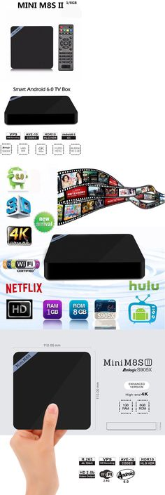 Other TV Video and Home Audio: Us Plug Mini M8s Ii Tv Box Amlogic S905x Wifi 2G+8G Quad Core Android 6.0 3D Se -> BUY IT NOW ONLY: $34.65 on eBay!