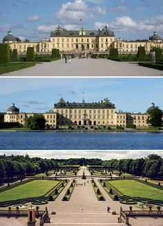 Drottningholm Palace, Stockholm, Sweden - private residence of the Swedish royal family, images via Wikipedia
