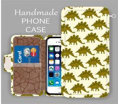LG G5 Stegosaurus Dinosaur galaxy note 5 Xperia Z5 wallet case galaxy S7 phone case iPhone Case iPhone 6S Plus iPhone 6 S3 iPhone 6