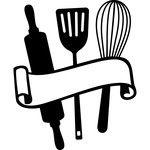 baking utensils scroll