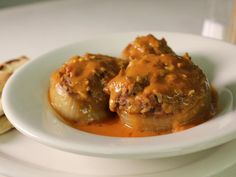 Get Sogan Dolma (Stuffed Onions) Recipe from Cooking Channel