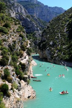 Verdon Gorge, Provence, France - Natural Wonders Around the World You'll Have to See to Believe - Photos Places Around The World, Oh The Places You'll Go, Travel Around The World, Places To Travel, Places To Visit, Around The Worlds, Dream Vacations, Vacation Spots, Vacation Destinations