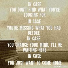 -- #LyricArt for In Case by Demi Lovato