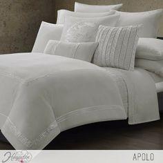 Juego de cama Apolo  Combina diferentes texturas y bordados para crear un suntuoso juego de cama para tu hogar. ...