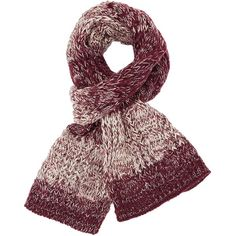 Charlotte Russe Wine Combo Two Tone Cable Knit Scarf by Charlotte... ($17) ❤ liked on Polyvore featuring accessories, scarves, wine combo, long shawl, charlotte russe scarves, oblong scarves, charlotte russe and cable knit scarves