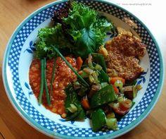 renate goes vegan: Gemüsepuffer mit Linsensoße