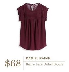 Love the color of this blouse, looks flowy and has cute lace details!  Interested in a personal stylist? Try stitch fix, where they look at your style interests to tailor a box just for you! Click my referral link below: stitchfix.com/referral/5006859