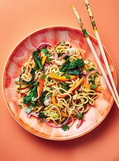 Stir-Fried Noodles with Vegetables Vegetarian Recipes, Cooking Recipes, Healthy Recipes, Yummy Recipes, Healthy Food, Fennel Soup, Steam Recipes, Main Course Dishes, Salads