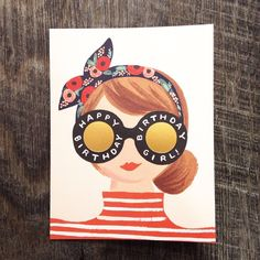 Who wouldn't want to receive this adorable Birthday Girl card from @riflepaperco?! #Cardoftheday
