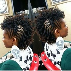 Flat twist updo partial twist out