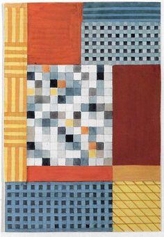 Gunta Stölzl--textile study--Misawa Homes' Bauhaus Collection, Tokyo