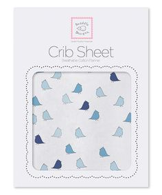 Look what I found on #zulily! Pastel Blue Little Chickies Fitted Crib Sheet by SwaddleDesigns #zulilyfinds
