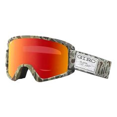 This Giro Semi Snowboard goggles in brown camo with Amber Scarlet lens also comes with a bonus yellow lens. inspired by the Blok goggles, you cant go wrong