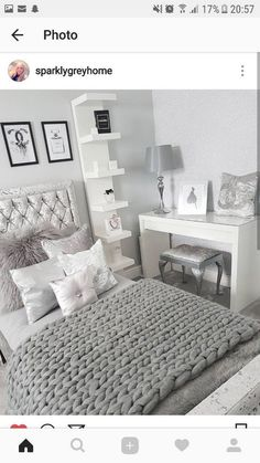 25 Small Bedroom Ideas That Are Look Stylishly & Space Saving - Spectacular Small bedroom ideas on a spending plan – Searching for tiny bedroom furnishings and a - Bedroom Inspo, Home Bedroom, Modern Bedroom, Contemporary Bedroom, Girls Bedroom, Ikea Bedroom, Trendy Bedroom, Bedroom 2018, Bedroom Colors