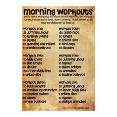 Morning Workouts - basic
