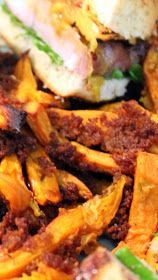 Inspired By eRecipeCards: Spicy Crunchy CRISPY BAKED Sweet Potato Fries
