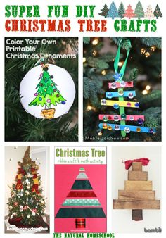 Super Fun DIY Christmas Tree Crafts via The Natural Homeschool