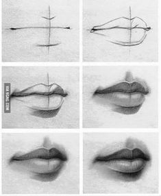 Draw lips TCH ideas Pencil drawings, Pencil art, Drawings how to draw lips - Drawing Tips Easy Pencil Drawings, Pencil Drawing Tutorials, Art Drawings Sketches Simple, Unique Drawings, Cool Drawings, Lip Drawings, Pencil Sketching, Sketching Tips, Hipster Drawings