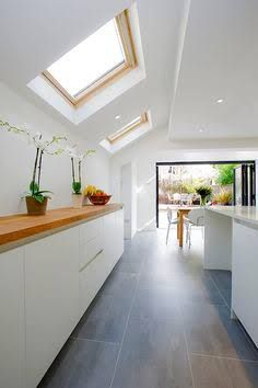 Wonderful Kitchen Extension, Victorian Terraced House, Skylights And Bifold Doors To  Garden.