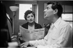 Leonard Bernstein [Leonard Bernstein and a woman singing his music from La Bonne Cuisine.]