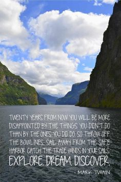 4 Mark Twain Travel Quotes That Will Inspire You to Pack Your Bag and Explore - The Yolo Moments Lol So True, Quotes To Live By, Me Quotes, Qoutes, Explore Dream Discover, Mark Twain Quotes, Life Guide, Safe Harbor, Meaningful Life