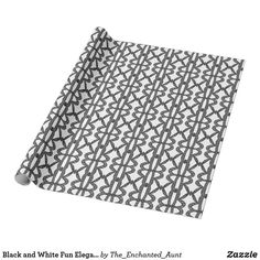 Black and White Fun Elegant Abstract Art Pattern Wrapping Paper. Each design has been hand-drawn and each pattern is unique. Originally abstract monograms have been morphed to form a pattern into this abstract design. Unique Wrapping Paper, White Wrapping Paper, Wrapping Paper Design, Gift Wrapping, Pattern Art, Monograms, Hand Drawn, Unique Gifts, How To Draw Hands