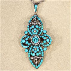 Antique Victorian Turquoise and Pearl Pendant in Silver and Gold by VictoriaSterling on Etsy https://www.etsy.com/listing/209839570/antique-victorian-turquoise-and-pearl