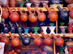 A-Z of Travel: Quotient's 2013 Picks |  Eritrea: Traditional earthern coffee pots on sale in a market in Asmara