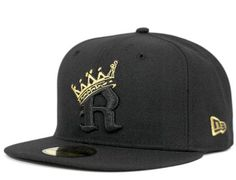 b2702a5ddaf Black Gold R Crown 59Fifty Fitted Cap by LOWERS x NEW ERA Fitted Caps