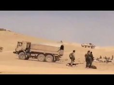 Footage Shows large number of Russian Soldiers deployed near Palmyra [Eastern Homs, Syria]  It is expected that Syrian army will conducts a major operation to retake Palmyra from ISIS and this operation is  imminent or Syrian Arab Army (SAA) consider operation to clean up Eastern Homs and its strategic T4 military airbase.  Also in the footage helicopter supporting ground forces attack ISIS position.
