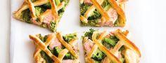 Lososový koláč s brokolicí