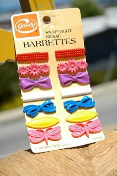 23 Things You Used To Wear As A Kid: Goody Kiddie Barrettes were such perfect day-to-night accessories.