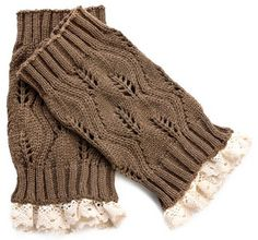 I can't get enough of these! Winter Leg Warmer Crochet Knit Boot Socks with lace