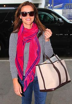 Reese Witherspoon in a scarf by A Peace Treaty.