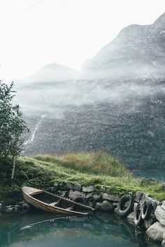 Olden, Norway by Dylan Furst on .Sinking boat in Olden, Norway Dream Photography, Nature Photography, Wonderful Places, Beautiful Places, Land Of Midnight Sun, Norway Travel, G Adventures, Landscape Photographers, Park City